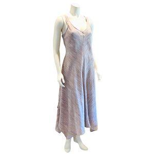 Linen Handkerchief Hemline Maxi Dress